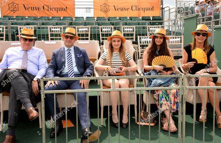 Jean-Marc Lacave, HH Prince Rashid Khan, Princess Gabriella, Princess Isabel and Carol Lacave