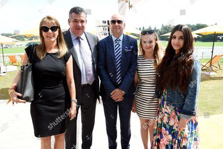Carol and Jean-Marc Lacave, HH Prince Rashid Khan, Princess Gabriella and Princess Isabel