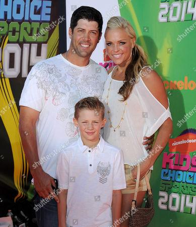 Jennie Finch, Casey Daigle and their son