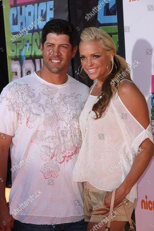 Jennie Finch and Casey Daigle