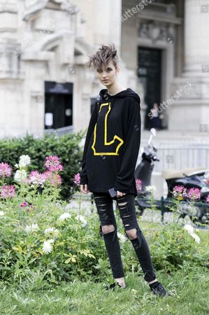 Editorial image of Street Style during Haute Couture Fall Winter 2014, Paris Fashion Week, France - 08 Jul 2014