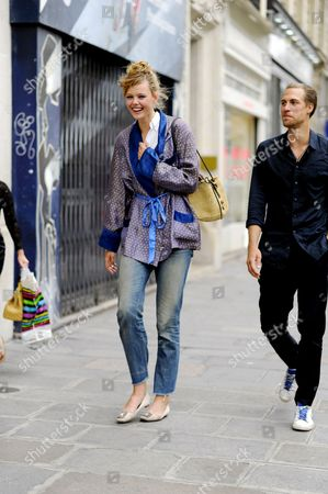 Model Frida Gustavsson after Jean Paul Gaultier Couture. on Rue Saint Martin.