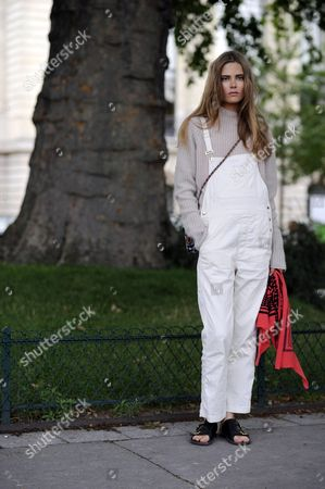 Editorial photo of Street Style during Haute Couture Fall Winter 2014, Paris Fashion Week, France - 08 Jul 2014