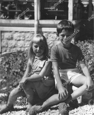 MARINA PICASSO WITH HER BROTHER WHO LATER COMMITTED SUICIDE PABLITO