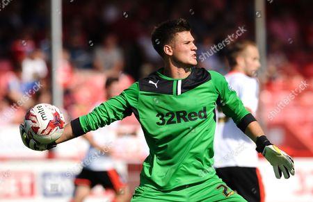 Crawley Town goalkeeper Raphael Spiegel
