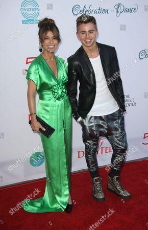 Michael Dameski and Paula Abdul