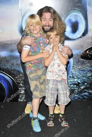 Justin Lee Collins & his sons