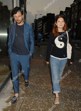 Stock Photo of Bonnie Wright and boyfriend Simon Hammerstein