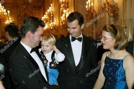 Duke Paul Georg von Habsburg with Prince Felipe and Duchess von Habsburg