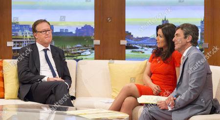 Phil Hall with Presenters Susanna Reid and John Stapleton