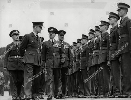 Air Chief Marshal Sir John Steel Inspecting Aircraft Apprentices At The 'passing Out' Inspection At Halton R.a.f. Camp.