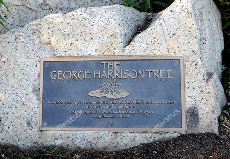 George Harrison memorial plaque