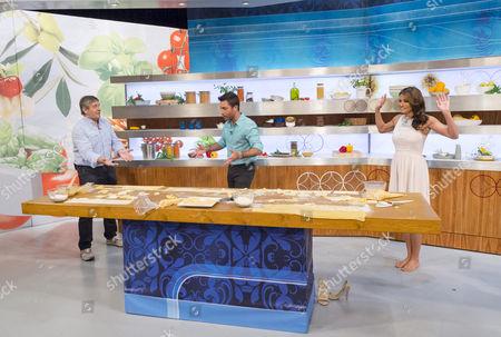Giancarlo Caldesi, Gino D'Acampo and Melanie Sykes