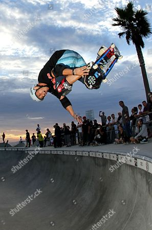 Christian Hosoi at the Venice Beach skatepark