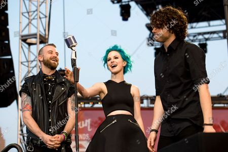 Paramore - Hayley Williams, Jeremy Davis and Taylor York