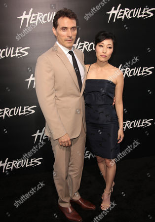 Stock Picture of Rufus Sewell and Ami Komai