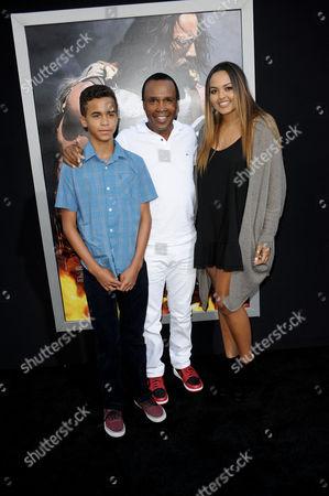 Sugar Ray Leonard, daughter Camille and son Daniel