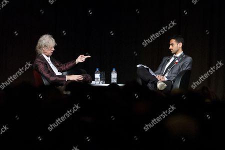 Stock Photo of Sir Bob Geldof is interviewed by Waleed Aly