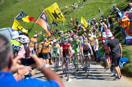 Martin Elmiger Iam Cycling 193, Simon Gerrans Orica Greenedge 181, Christian Meier Orica Greenedge 187, Fabio Sabatini Cannondale 58