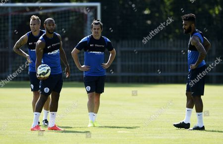 Trialist Jack Collison, Matt Phillips, Joey Barton and Armand Traore of QPR.