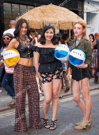 Ana Tanaka, Diana Auria and Rio Fredrika