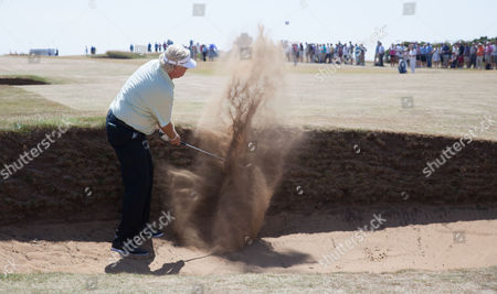 Stock Image of Mark Wiebe plays out of a bunker