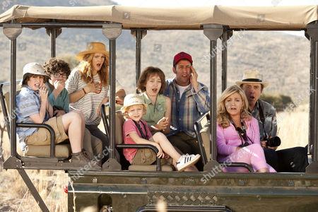 Drew Barrymore, Adam Sandler, Jessica Lowe, Kevin Nealon