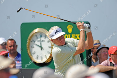 Mark Wiebe of USA tees off on the 10th