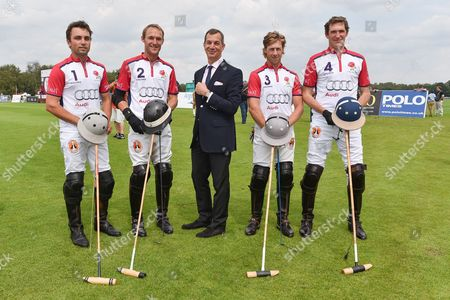 Ollie Cudmore, Mark Tomlinson, Philippe Léopold-Metzger, (CEO of Piaget), James Beim and Luke Tomlinson