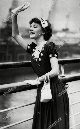 Actress Kathryn Beaumont Voice Of Alice In Walt Disney's Alice In Wonderland Film.