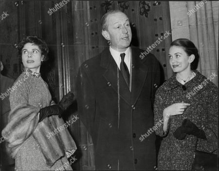 L-r: Actress Yvonne Mitchell Arthur Watkins Head Of British Film Producers Association And Actress Jeanette Scott At The House Of Commons To Protest Against Tax On Cinemas.