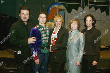 Alec Baldwin with Nutcracker Prince Sascha Radetsky, Co Chairs Kelly Chapman Meyer, Lori Milken and Nancy Marks Meyer, Lori Milken