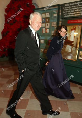 Steve Martin with his date, Ms Anne Stringfield