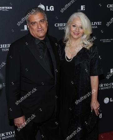 Stock Photo of Joe Germanotta and Cynthia Germanotta