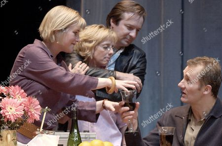 L-R: Sylvestra Le Touzel, Emma Chambers, Neil Pearson and Aden Gillett