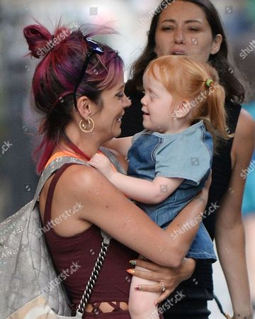 Lily Allen with her daughter Ethel Cooper