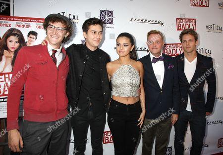 Nate Hartley, Nat Wolff, Selena Gomez, Tim Garrick, Lachlan Buch