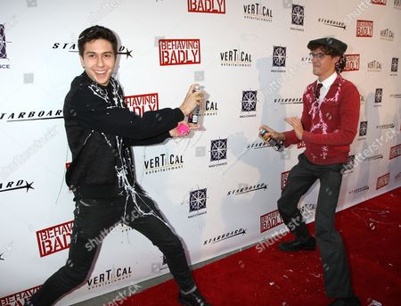Stock Photo of Nat Wolff and Nate Hartley