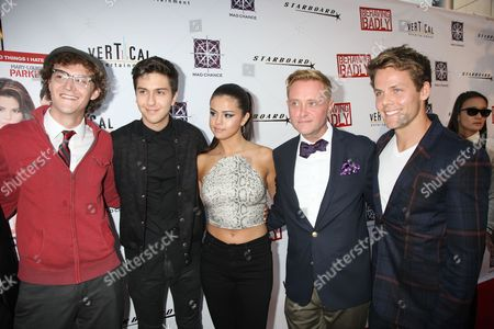 Stock Picture of Nate Hartley, Nat Wolff, Selena Gomez, Tim Garrick, Lachlan Buch