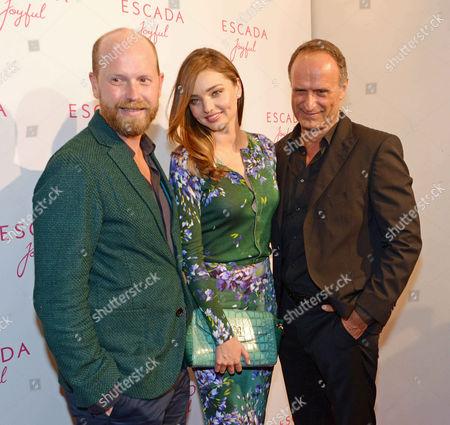 Stock Photo of Daniel Wingate (Designer), Miranda Kerr and Bruno Saelzer