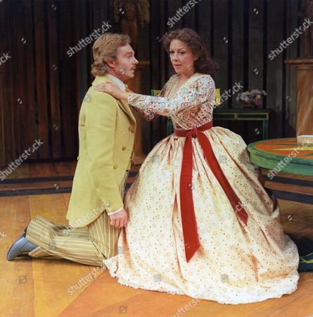 DEREK JACOBI AND DOROTHY TUTIN IN PLAY 'A MONTH IN THE COUNTRY'