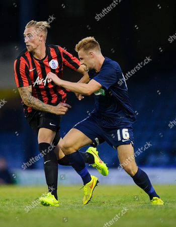 Jack Collison of QPR and Conor Clifford of Southend United
