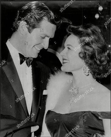 Editorial picture of Actress Patricia Medina And Hugh O'brian At The Gala Showing Of 'room At The Top' At The Plaza.