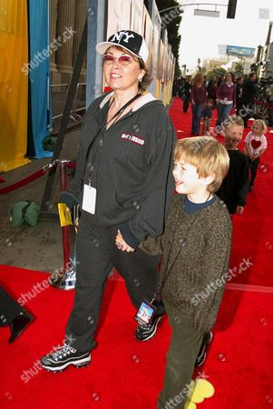 Roseanne Arnold and son Buck