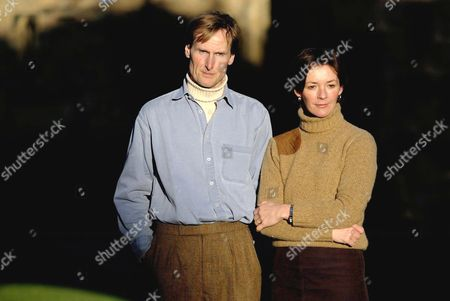 Editorial photo of DUKE AND DUCHESS OF NORTHUMBERLAND AT HOME, ALNWICK CASTLE, BRITAIN - 10 JAN 2003