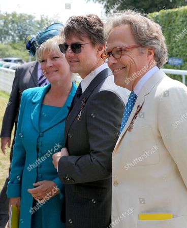 Tom Cruise arriving at Goodwood with Lord and Lady March Goodwood