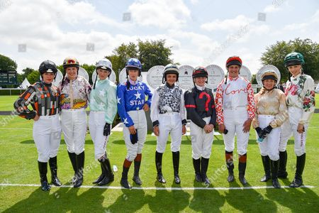 Maggie Buggie, Alexis Green, Leonora Smee, Philippa Holland, Megan Nicholls, Laura Redvers, Kristina Cook, Clare Salmon and Edie Campbell