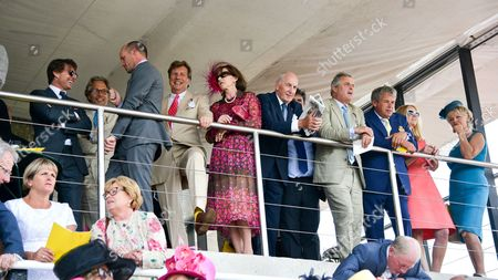 Tom Cruise, Lord March, guest, Lady Felicity Osborne, Sir Peter Osborne, Lord Astor, Kate Reardon and Lady March