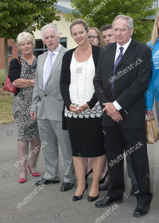Sgt Danny Nightingale's Wife Sally With Danny's Father Humphrey (right) After The Sentencing At Bulford Court Martial Wiltshire The Former Sas Sniper Has Been Given A Two-year Suspended Sentence For Illegally Possessing A Glock 9mm Pistol And 300 Rounds Of Ammunition