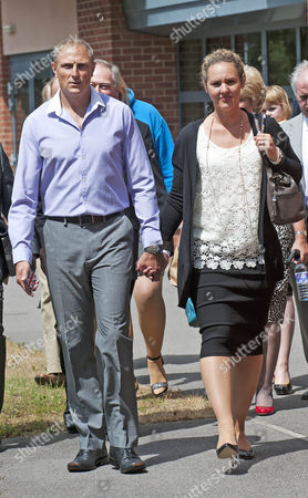 Sgt Danny Nightingale Leaves The Bulford Court Martial In Wiltshire With His Wife Sally The Former Sas Sniper Has Been Given A Two-year Suspended Sentence For Illegally Possessing A Glock 9mm Pistol And 300 Rounds Of Ammunition